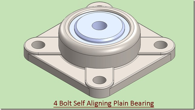 4 Bolt Self Aligning Plain Bearing