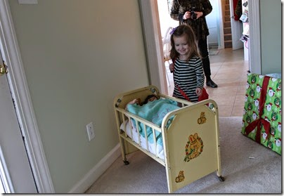 Zoey seeing her doll bed3