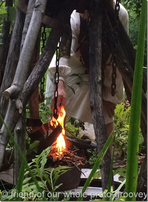 Lighting the fire Lughnasadh last