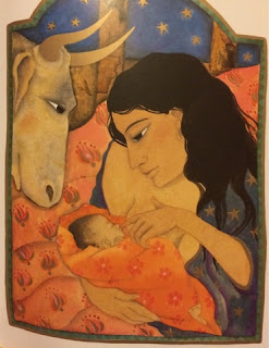 Mary breastfeeding Jesus from From The Story of Christmas  by Jane Ray
