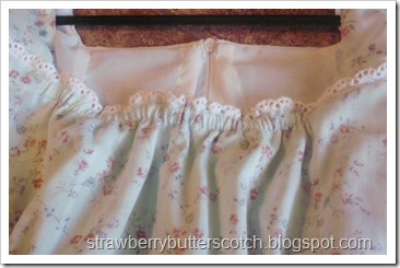 Dress neckline closeup
