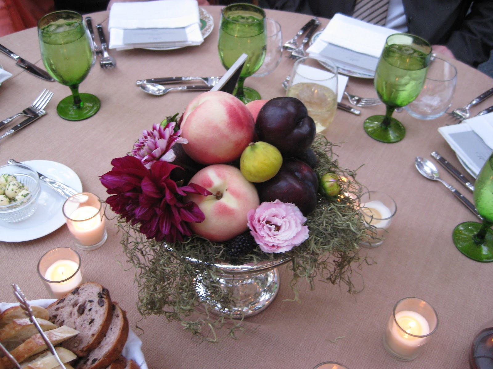 red and gold centerpieces for