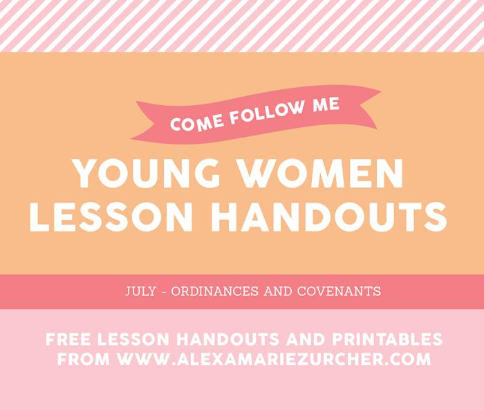come follow me lesson handouts