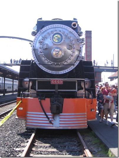 IMG_6050 Southern Pacific Daylight GS-4 4-8-4 #4449 at Union Station in Portland, Oregon on May 9, 2009