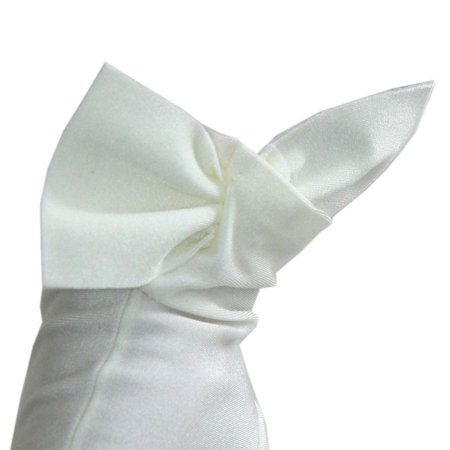 Ivory Bow Cocktail Gloves