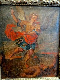 Антикварная картина 19-й век. Холст, масло. 35/25 см. 1400 евро.