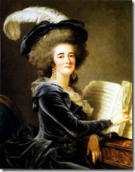 portrait de la Comtesse de Selve faisant de la musique 1787