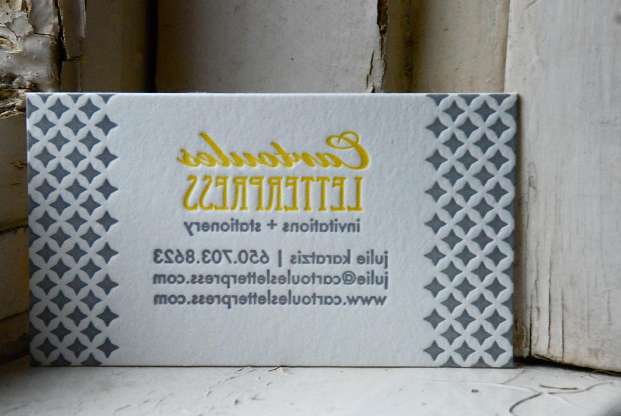 Pretty new business cards from