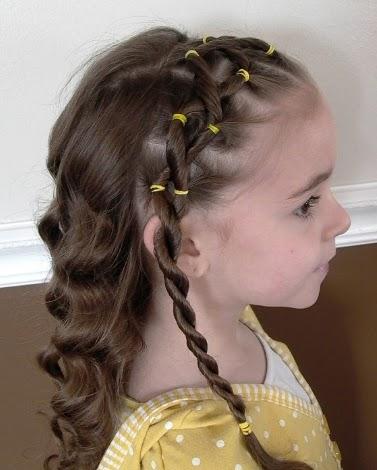 Peinados Para Cabello Corto De Ninas , peinados con trenzas para niñas con cabello corto