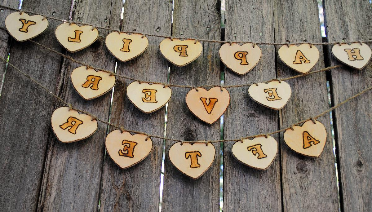 Wood Wedding Sign, Heart