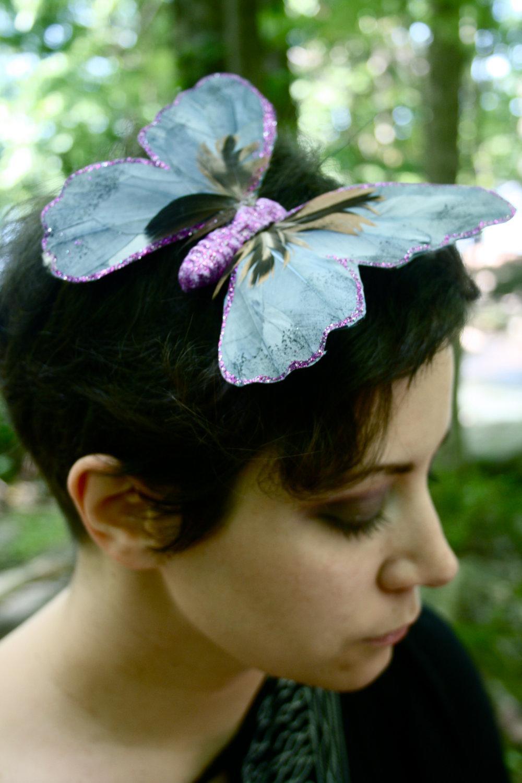 FLUTTER Handmade Butterfly Feather Wedding Bridal Hair Clip Hairpiece