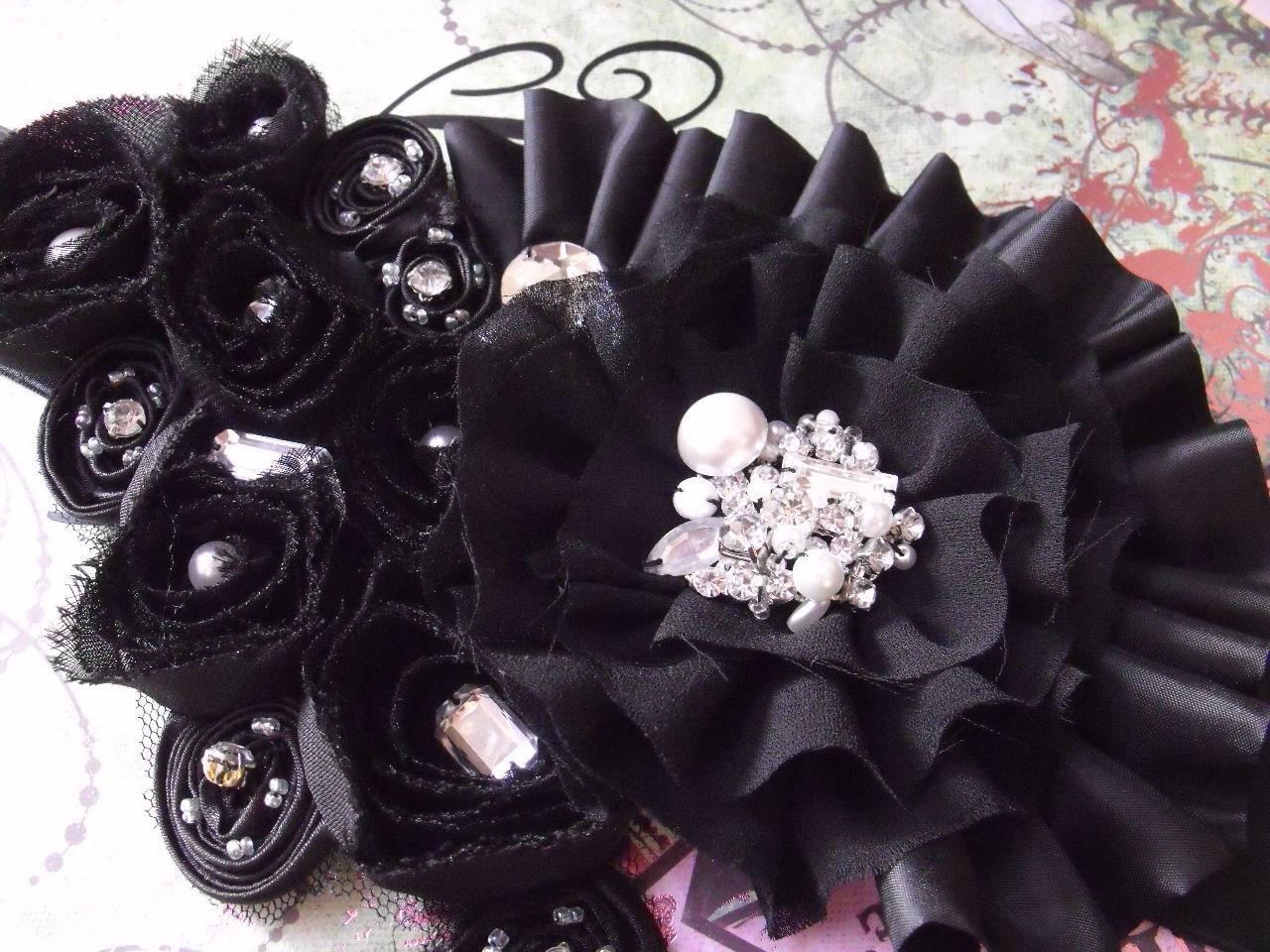 Stunning Bridal Sash, Black