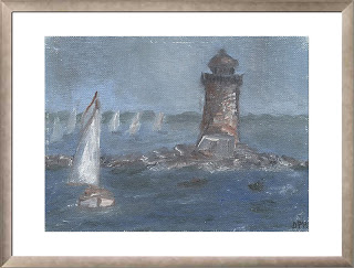 Boats on a foggy day (oils, 1997)