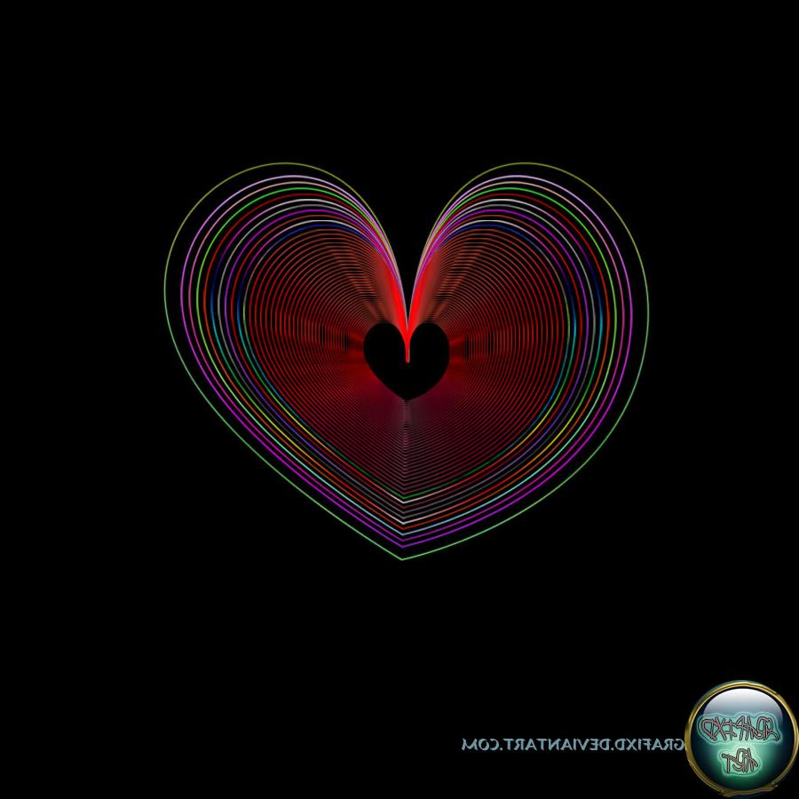 Vector Digital Heart by