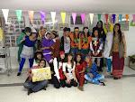Toda la Unidad Scout durante la fiesta