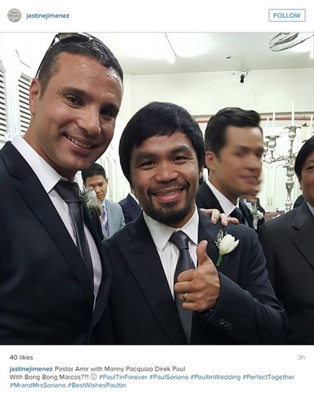Paul-Celestine wedding - Manny Pacquiao