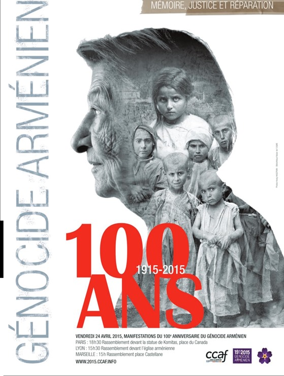 aficha de la commemoracion de la debuta del genocidi armenian