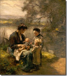 Léon_Augustin_Lhermitte_-_Woman_with_Child_and_Two_Children