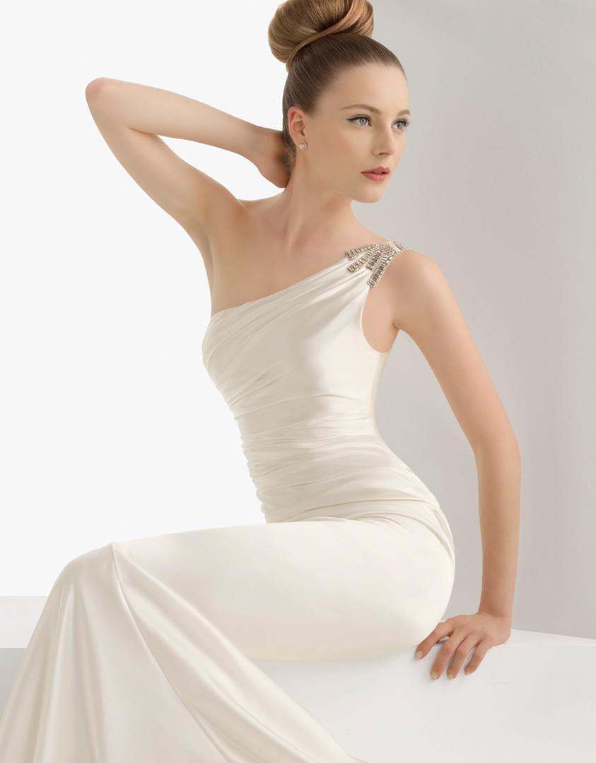 1920s One Shoulder Dress