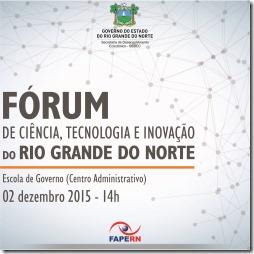 Cartaz Fórum de Ciência, Tecnologia e Inovação  da FAPERN