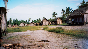 An east coast village in Madagascar: Niarovana.