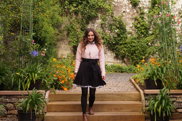 candyfloss jumper and a pettycoat skirt
