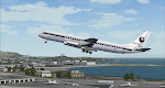 Pacific East DC-8 lifts off from SFO bound for Hawaii