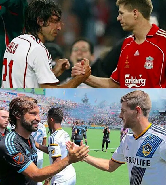 meme, pirlo, gerrard, liverpool, juventus, major league soccer