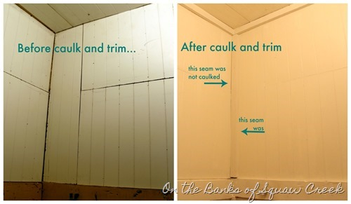 caulk and trim