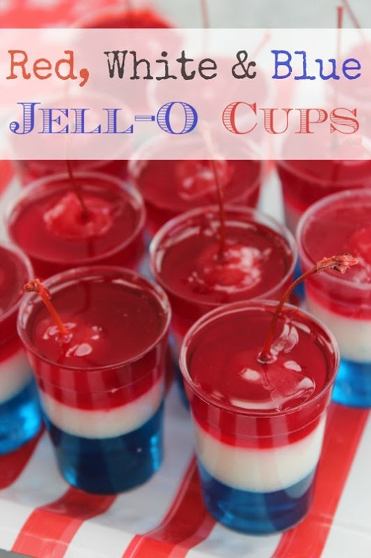 Red-White-Blue-Jell-O-Cups
