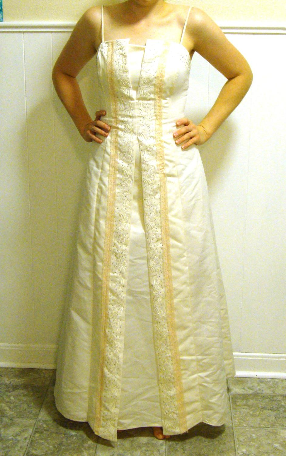 Ivory Off White Wedding Gown With Vintage Lace. From ColdPress