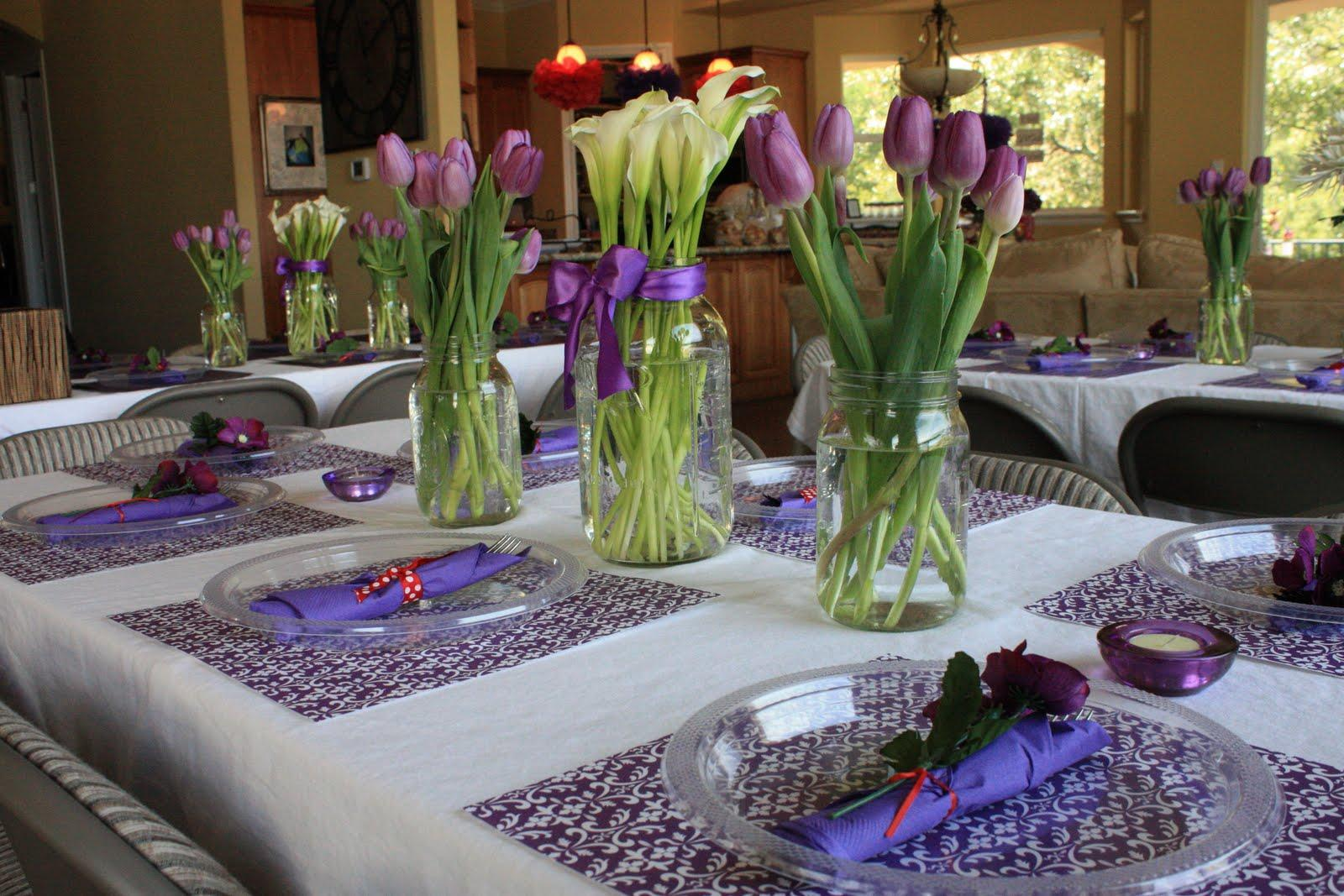 The centerpieces & tables.