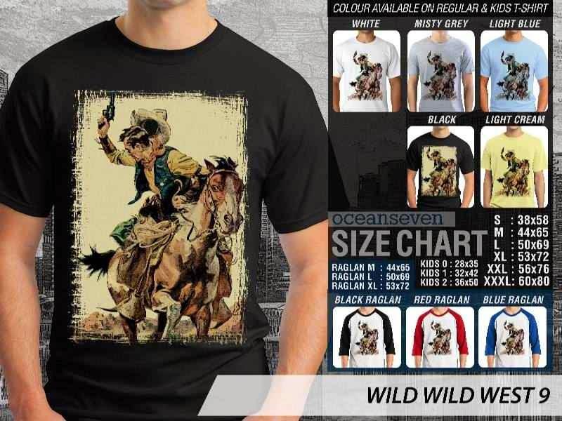 Kaos Cowboy Americana 9 Wild West distro ocean seven