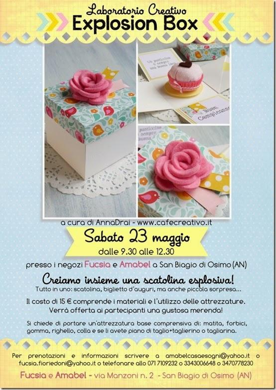 cafe creativo - Fucsia e Amabel  - corso explosion box 1