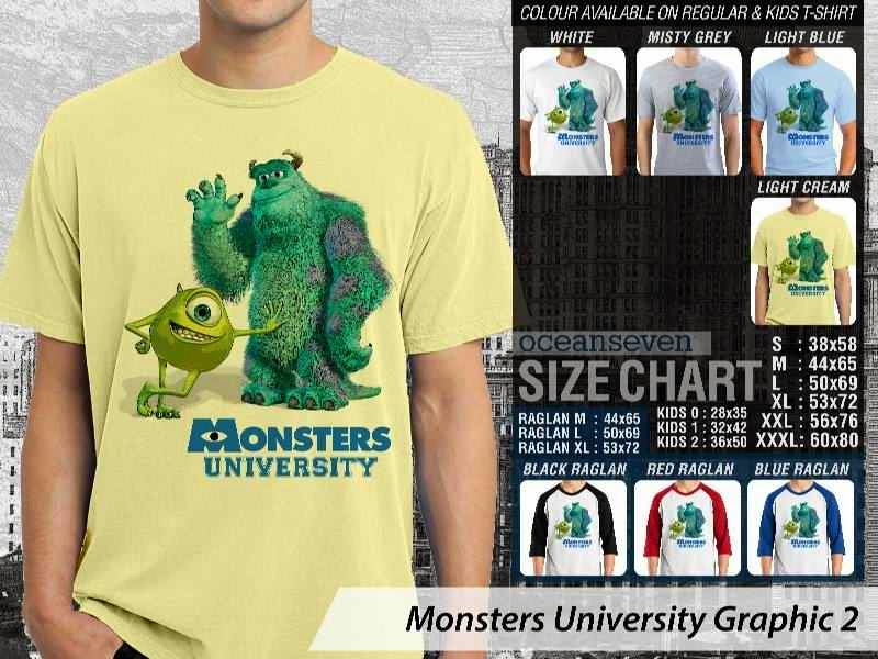 KAOS Monster University 12 Film Lucu distro ocean seven