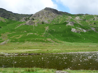 Rosthwaite Fell across Langstrath Beck.