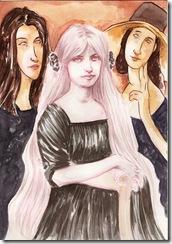 Jeanne Hébuterne- Modigliani- Lenin Cañar - acuarela, Watercolor