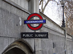 The Westminster Tube Station sign