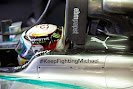Twitter #KeepFightingMichael on Lewis Hamilton's Mercedes W05