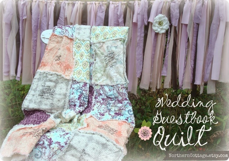 Gorgeous Wedding Guestbook Quilt{NorthernCottage} _thumb