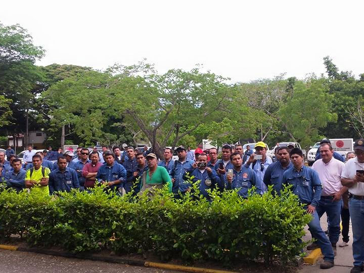 Mítines de la USO Huila en protesta por incumplimiento de acuerdos