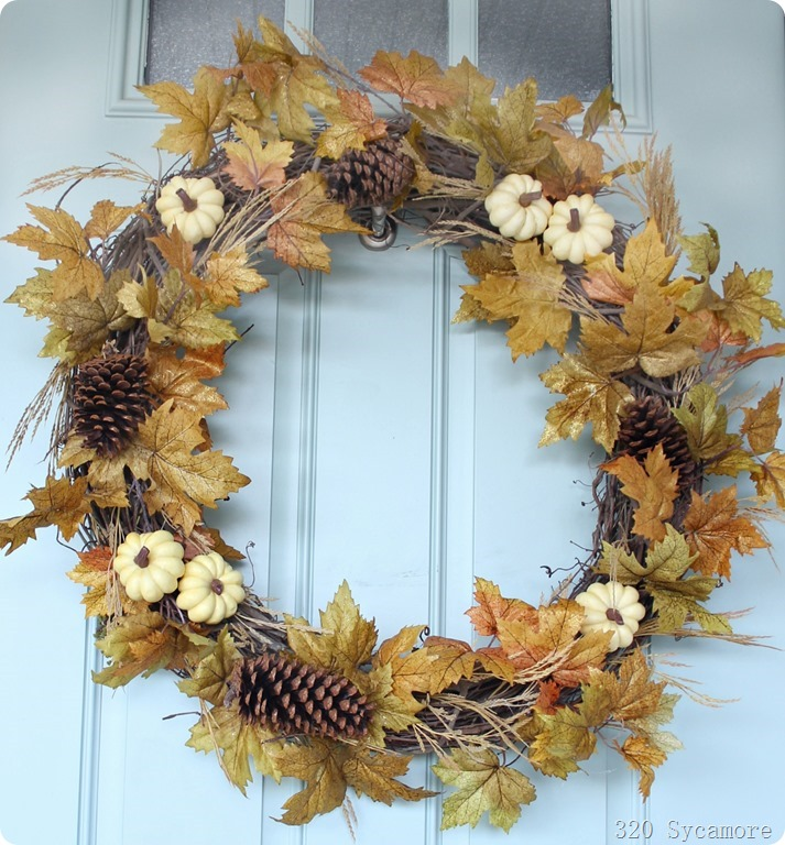 quick diy fall autumn wreath