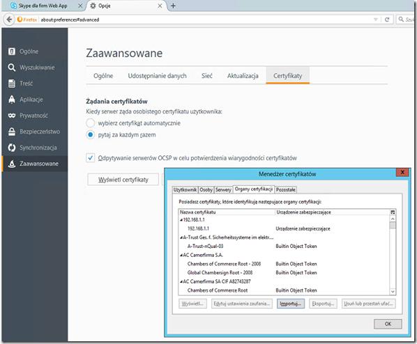 Firefox-certificate-import