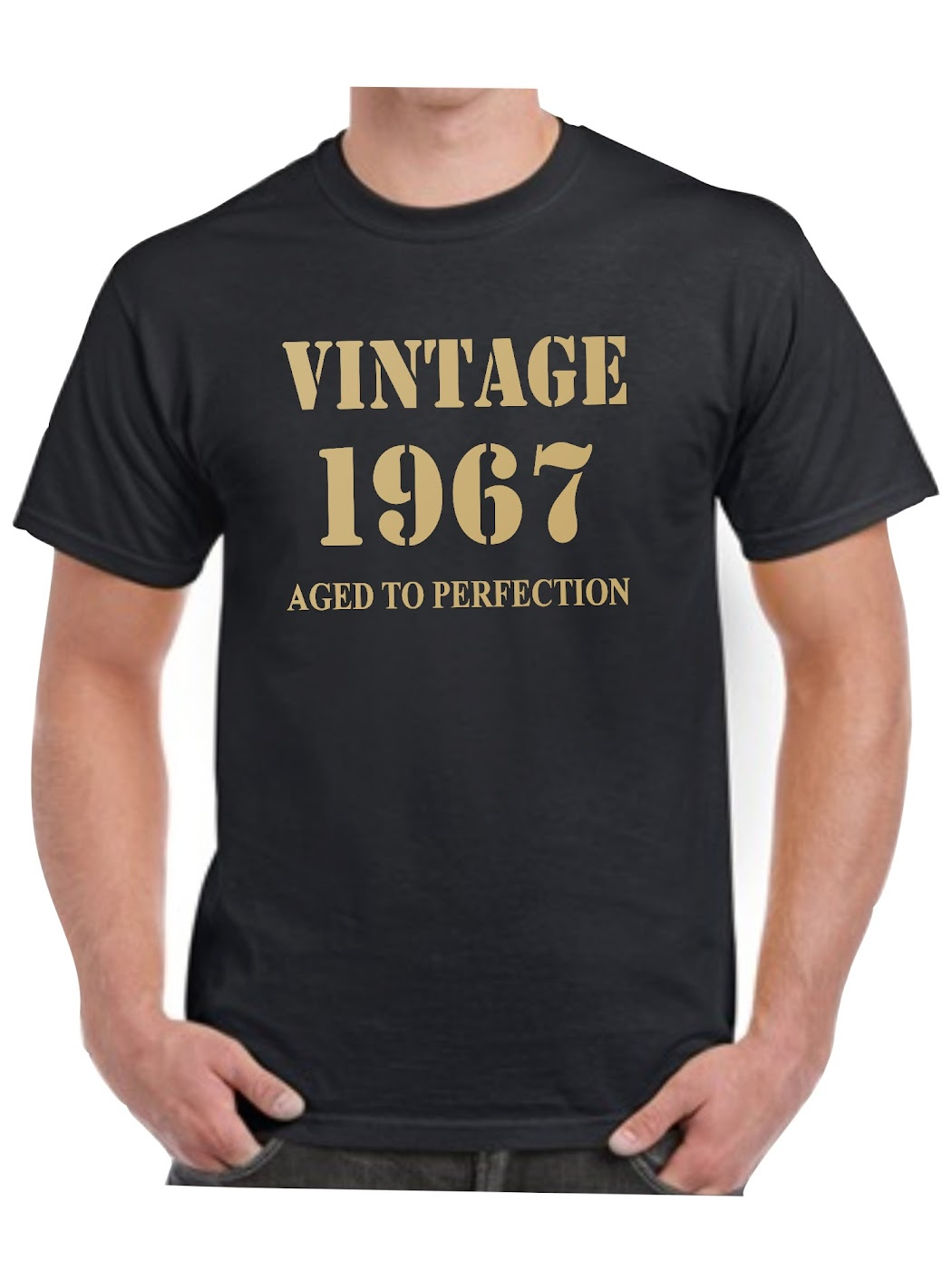 1967 T Shirt Birthday Present Vintage Born Age Mens 17 Sizes available S - 8XL