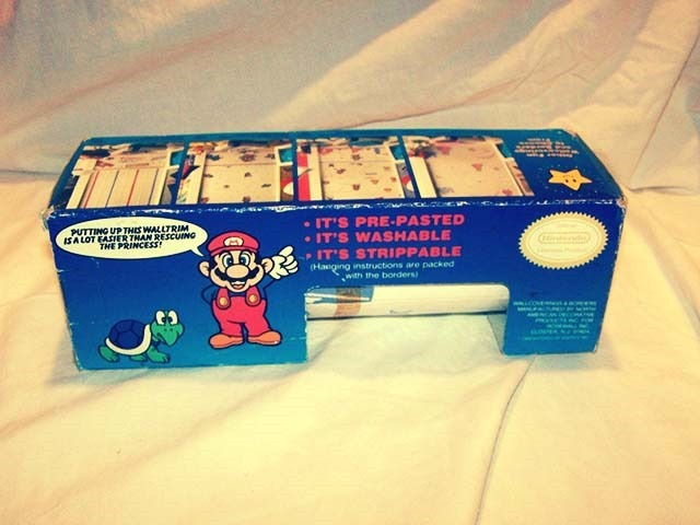 Super Mario Bros. Walltrim Sticker Top Side