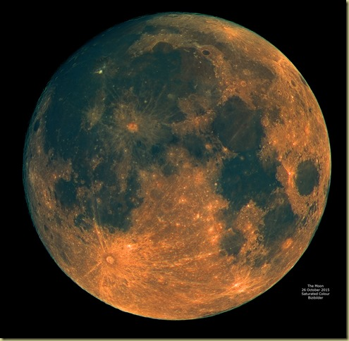 Moon 26 October 2015 Saturated Colour Mosaic JPEG
