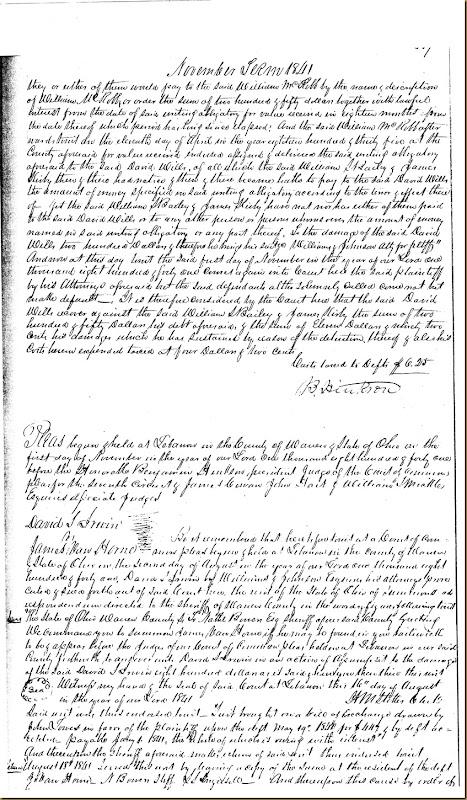 David S. Irwin sues James VanHorne 1841 2
