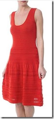 Sinaquenone red summer dress