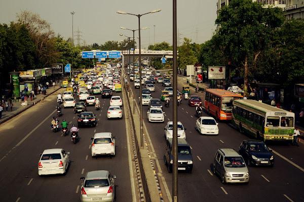 дели нью-дели движение транспорт улица