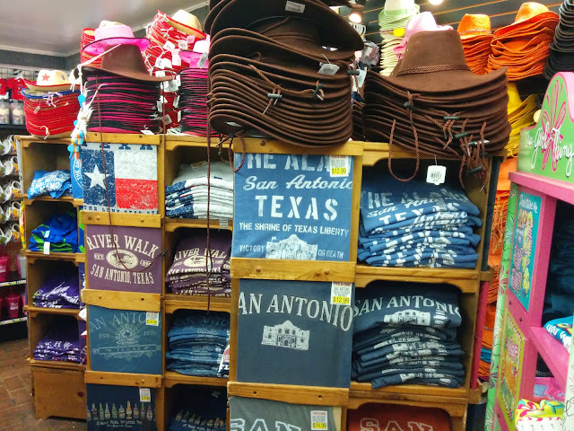 T shirt souvenirs at San Antonio, Texas